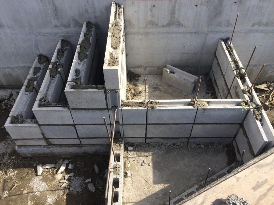 ブロック積階段