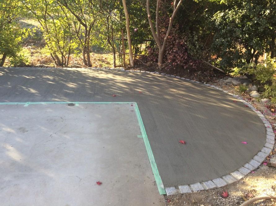 土間コンクリート刷毛引き仕上げ