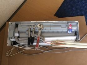 エアコン室内機冷媒管接続
